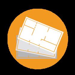6-em múltiplos-camadas-icon-configurador-3D-design-padrão de modulação de layout