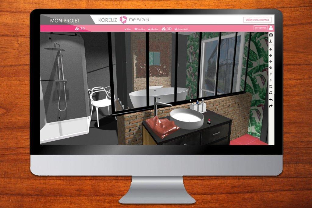 Планировщик ванной комнаты 3D